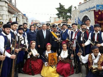 Ο Πάνος Καμμένος σήμερα στις εκδηλώσεις των Μανιατών στην Αρεόπολη