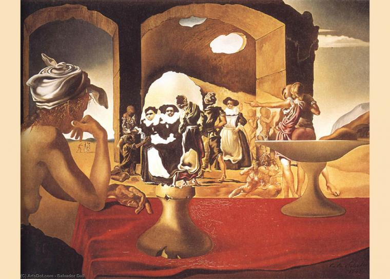 Salvador Dalí Slave Market with the Disappearing Bust of Voltaire (1940)