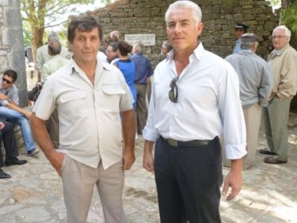 Ο Ηλίας Σταυρόπουλος (δεξιά) με τον Ηλία Σακελλαριάδη